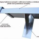 nášlapný parapet balkonový montáž