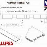 PVC parapety - schéma
